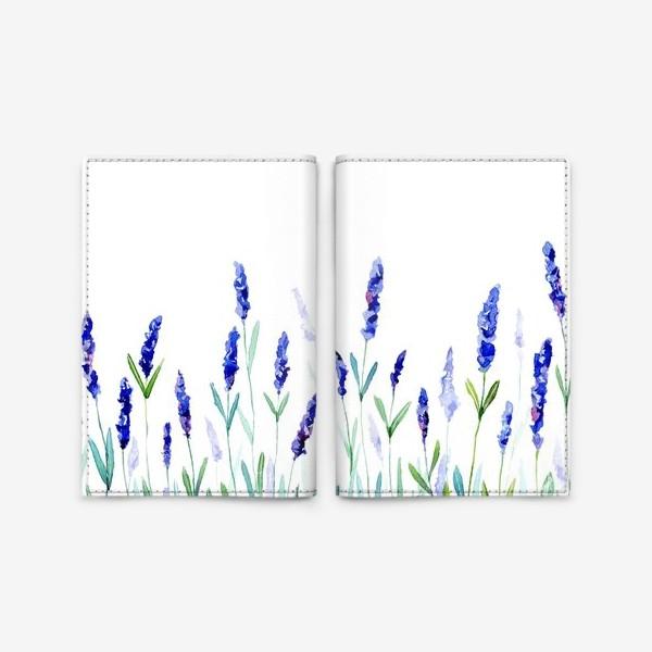 Обложка для паспорта «Лавандовое поле»