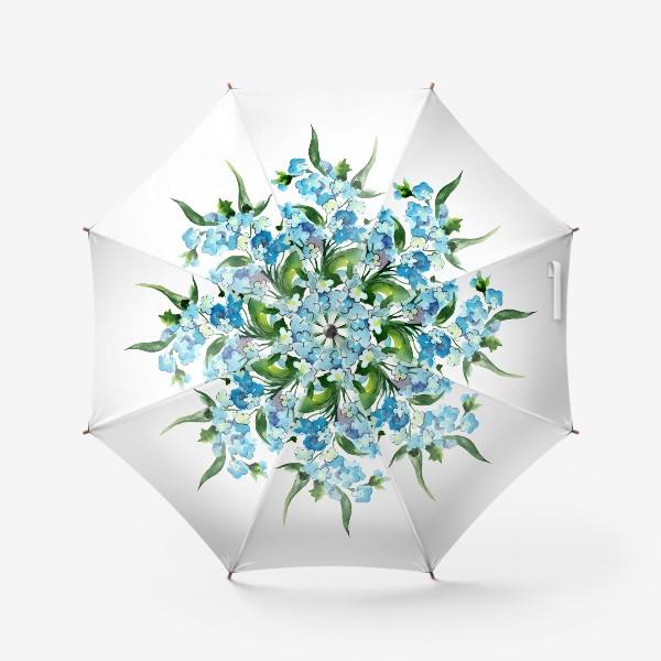 Зонт «Букет синих цветов»