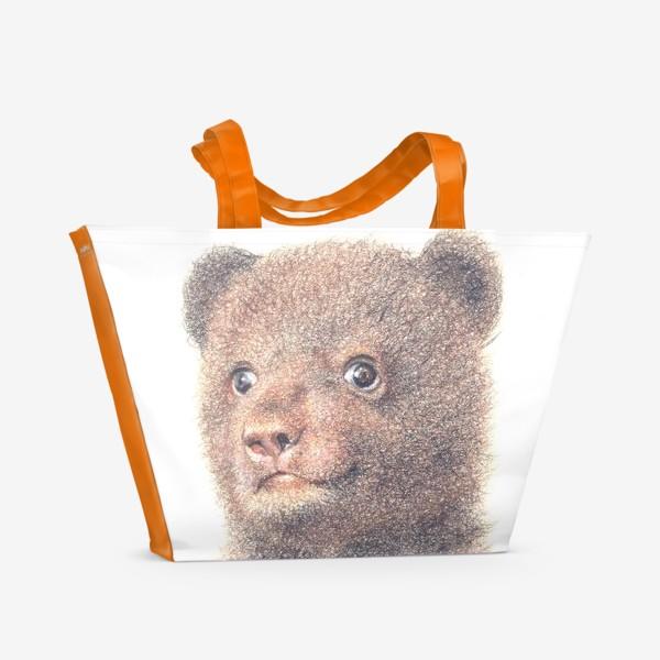 Пляжная сумка «Миша,медвежонок»