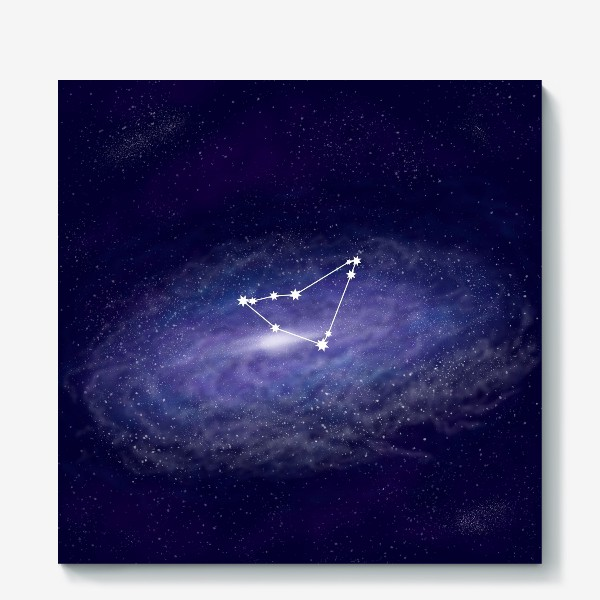 Холст «Созвездие Козерог. Галактика»