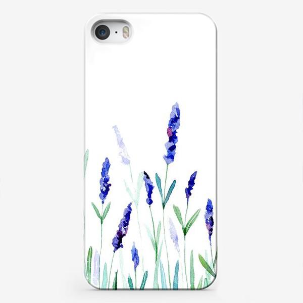 Чехол iPhone «Лавандовое поле»