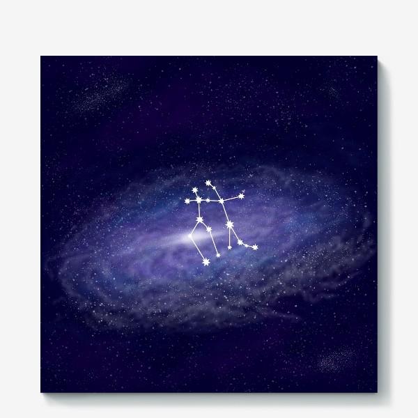Холст «Созвездие Близнецы. Галактика»