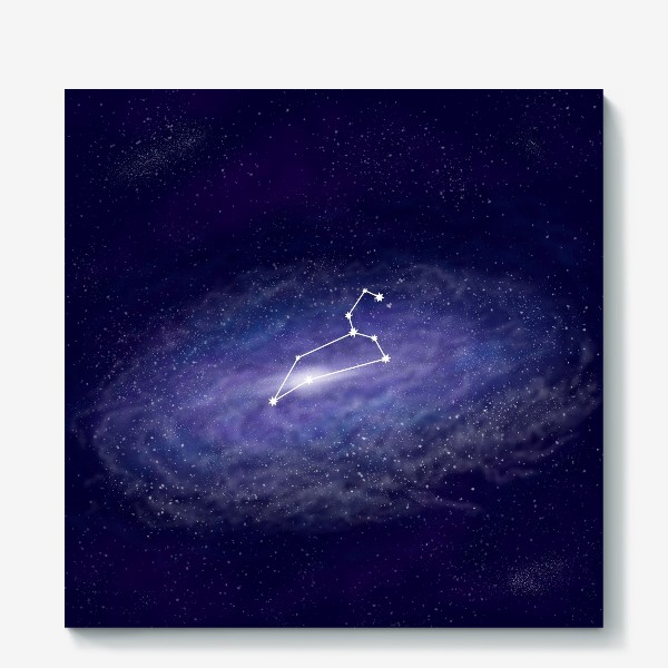 Холст «Созвездие Лев. Галактика»