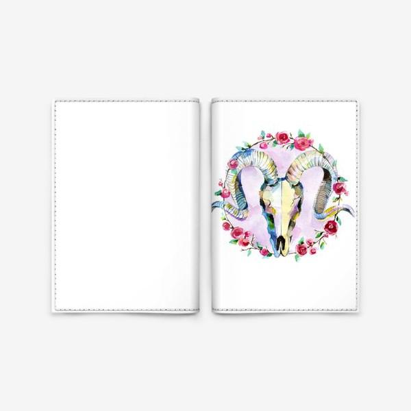 Обложка для паспорта «Череп»