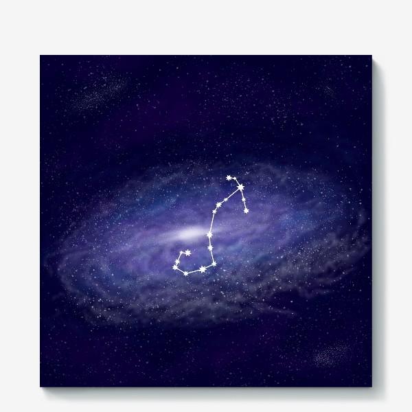 Холст «Созвездие Скорпион. Галактика»