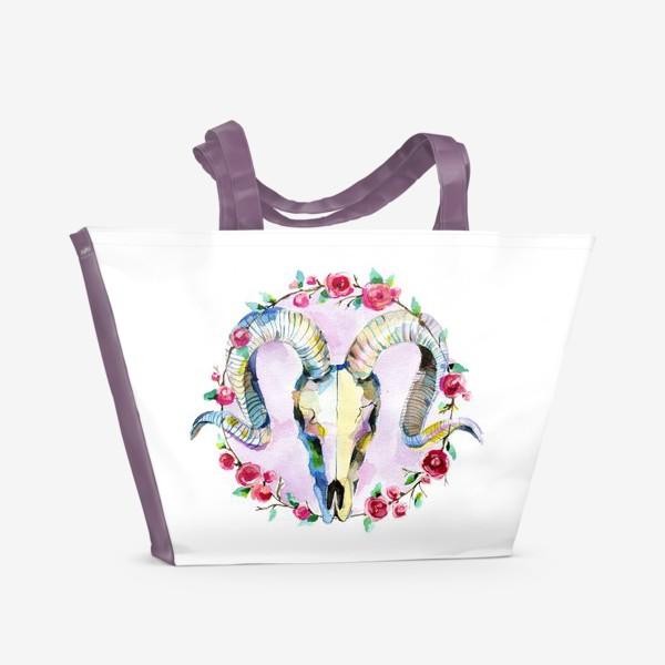 Пляжная сумка «Череп»