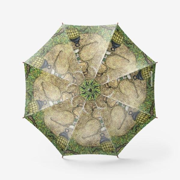 Зонт «Собака и ворон»