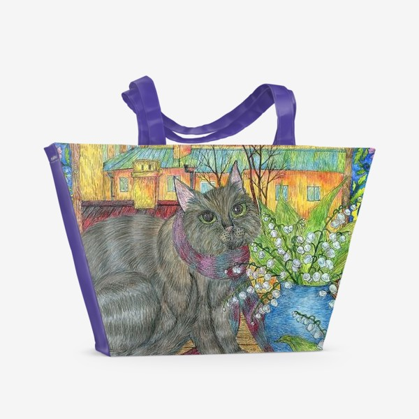 Пляжная сумка «Весна в Петербурге»