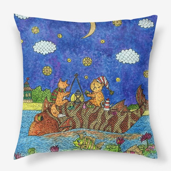 Подушка «Лисенок и мишка»