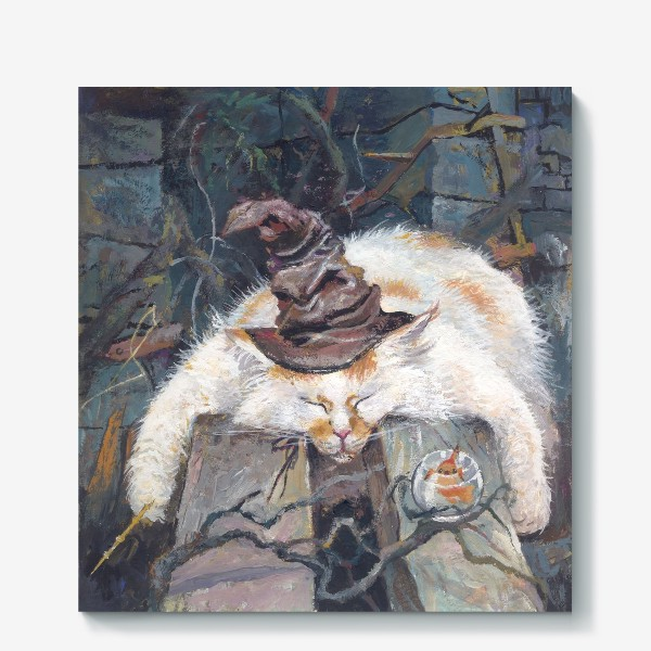 Холст «Волшебник,кот»