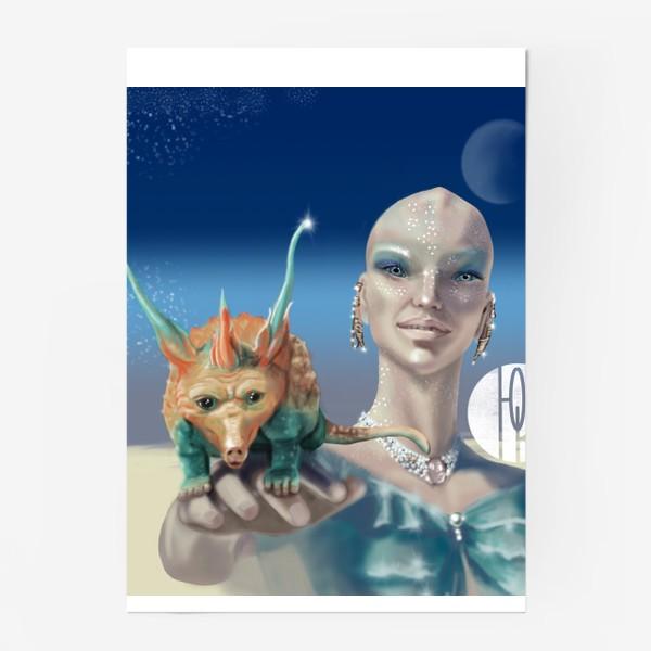 Постер «Принцесса перлов планеты мю »