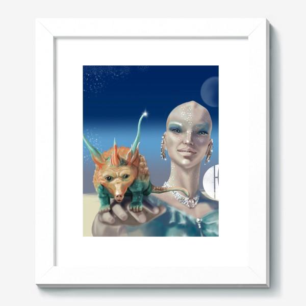Картина «Принцесса перлов планеты мю »