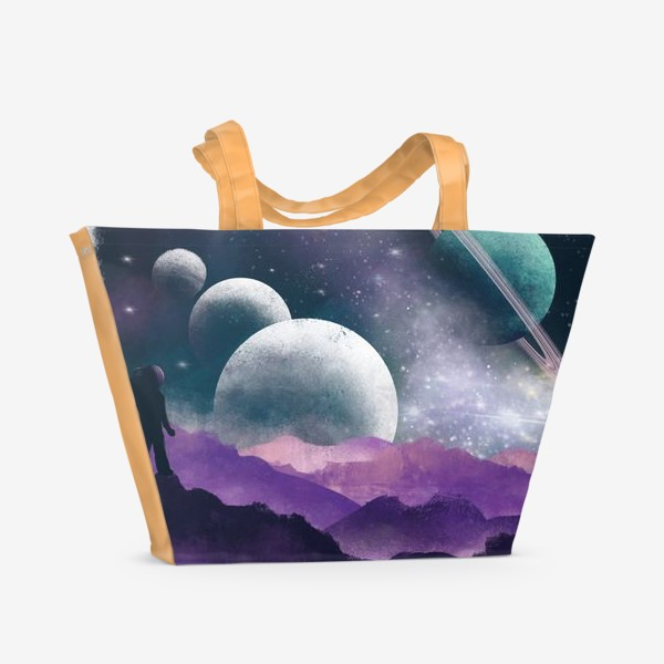 Пляжная сумка «ГДЕ-ТО ВО ВСЕЛЕННОЙ»