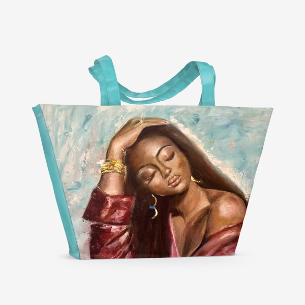 Пляжная сумка «Девушка»