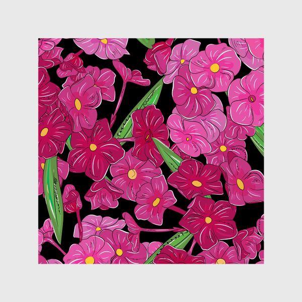 Шторы «цветы флоксы»