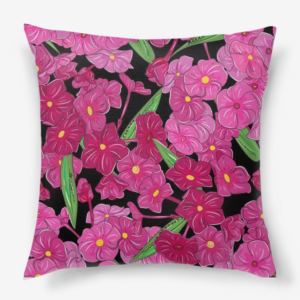 Подушка «цветы флоксы»
