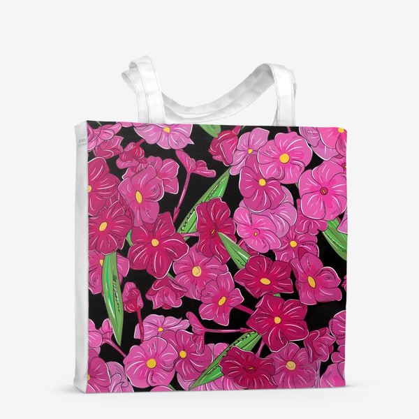 Сумка-шоппер «цветы флоксы»