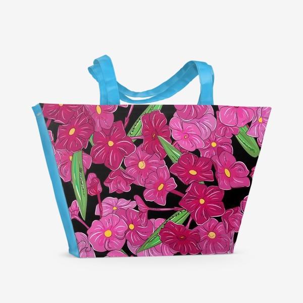 Пляжная сумка «цветы флоксы»