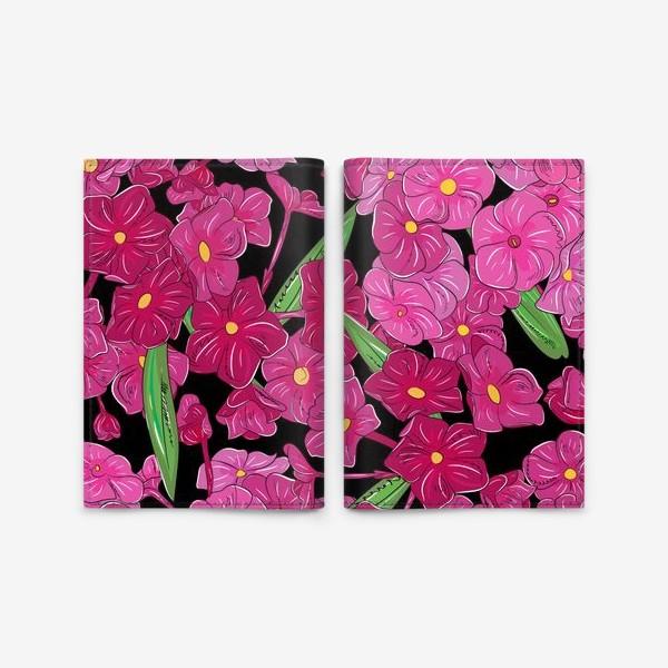 Обложка для паспорта «цветы флоксы»
