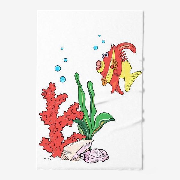 Полотенце «красная рыбка и кораллы»