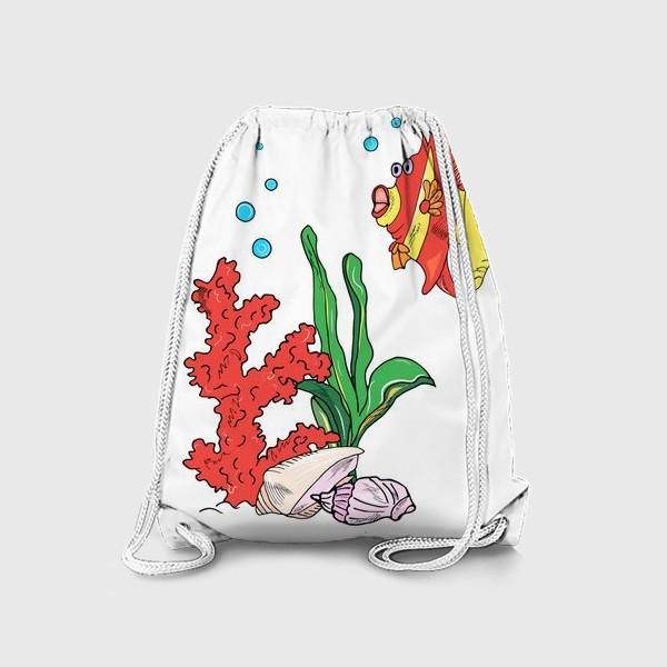 Рюкзак «красная рыбка и кораллы»