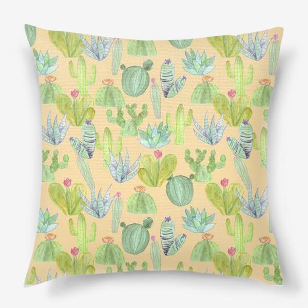 Подушка «Кактусовый лес. Пустыня кактусов»