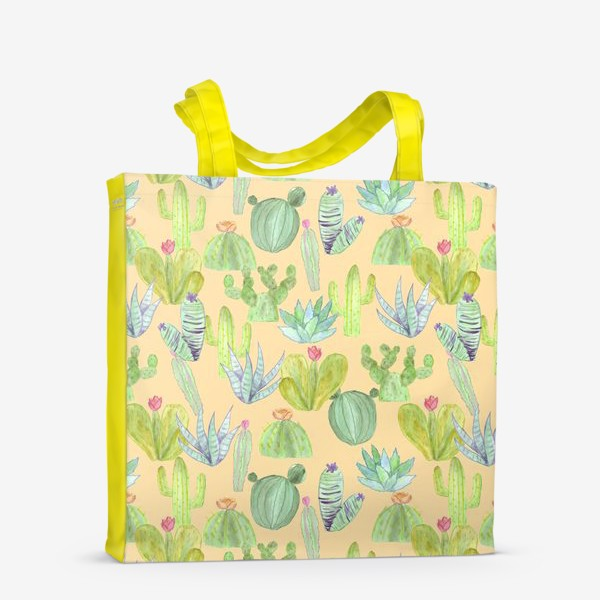 Сумка-шоппер «Кактусовый лес. Пустыня кактусов»