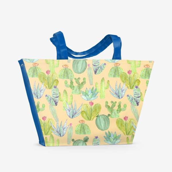 Пляжная сумка «Кактусовый лес. Пустыня кактусов»