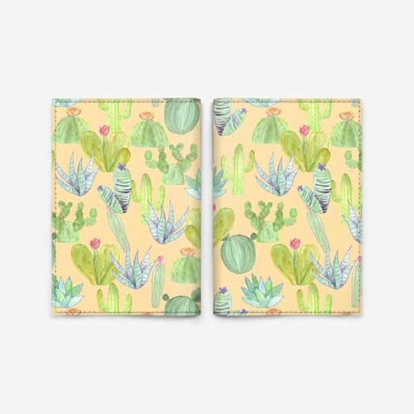 Обложка для паспорта «Кактусовый лес. Пустыня кактусов»