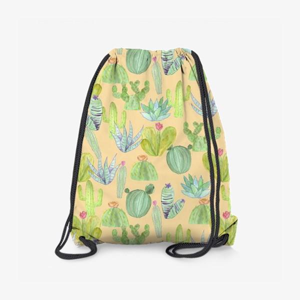 Рюкзак «Кактусовый лес. Пустыня кактусов»