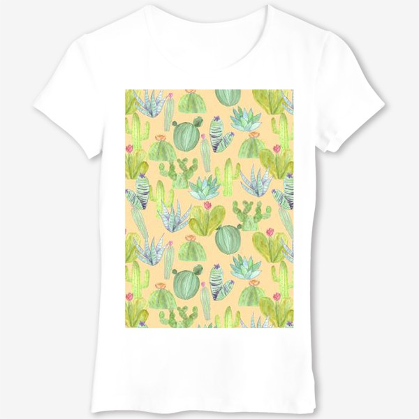 Футболка «Кактусовый лес. Пустыня кактусов»
