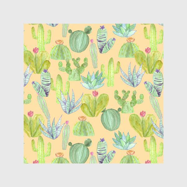 Шторы «Кактусовый лес. Пустыня кактусов»