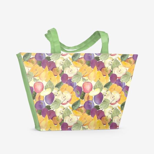 Пляжная сумка «Фруктовый лес. Урожай фруктов»
