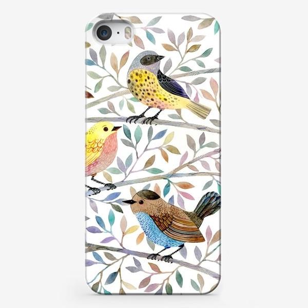 Чехол iPhone «Птицы на веточках»