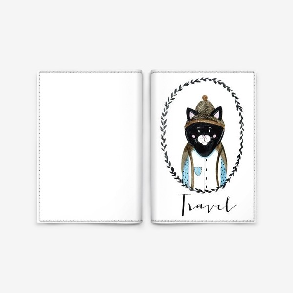 Обложка для паспорта «Котей»