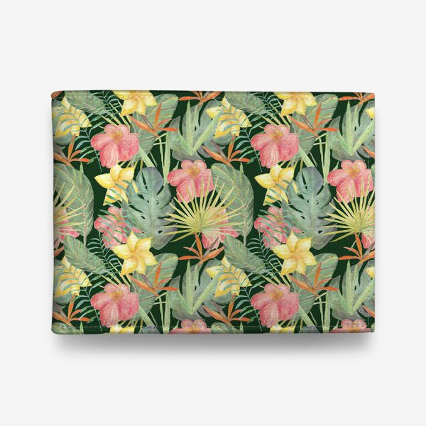 Кошелек «Тропический лес. Листья и цветы джунглей»