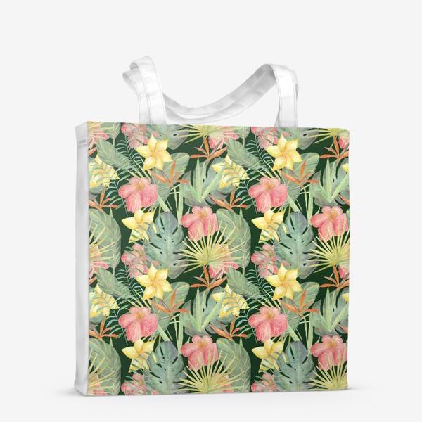 Сумка-шоппер «Тропический лес. Листья и цветы джунглей»