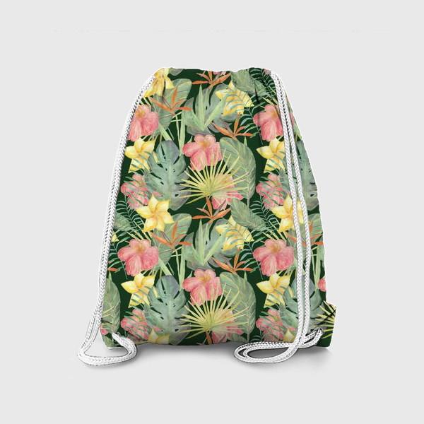 Рюкзак «Тропический лес. Листья и цветы джунглей»