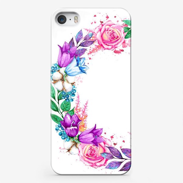 Чехол iPhone «Венок с колокольчиками»
