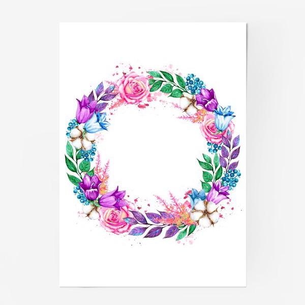 Постер «Венок с колокольчиками»