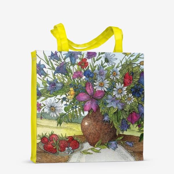 Сумка-шоппер «Большой букет полевых цветов»