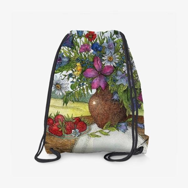 Рюкзак «Большой букет полевых цветов»