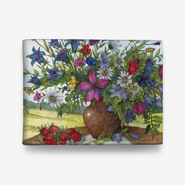 Кошелек «Большой букет полевых цветов»