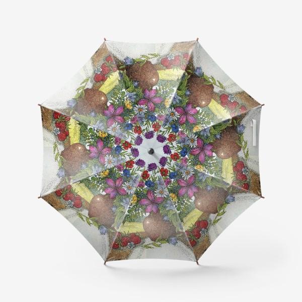 Зонт «Большой букет полевых цветов»