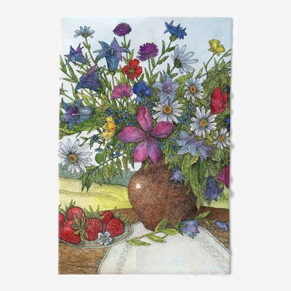 Полотенце «Большой букет полевых цветов»