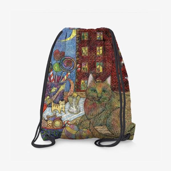 Рюкзак «Кот и Новый год»