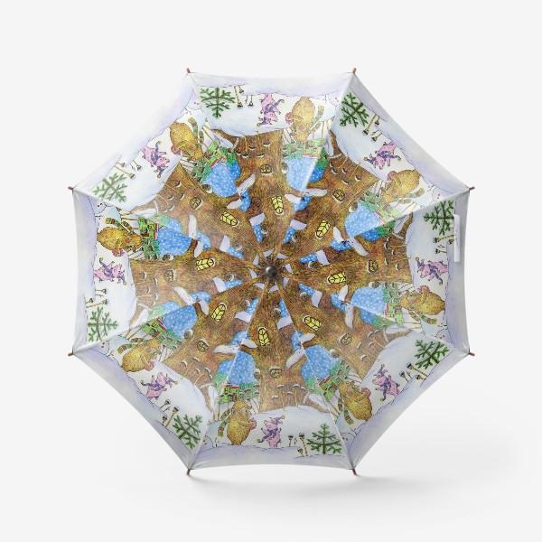 Зонт «Винни-Пух, Пяточок и ослик Иа-иа »
