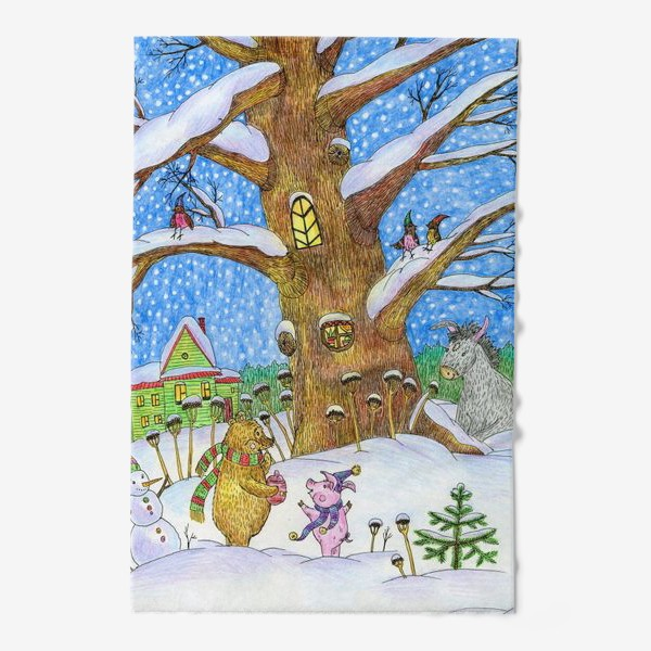 Полотенце «Винни-Пух, Пяточок и ослик Иа-иа »