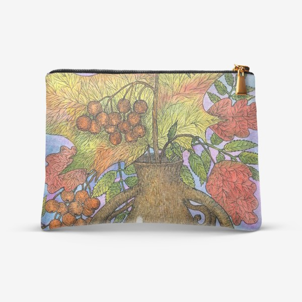 Косметичка «Осенний букет из листьев и ягод»