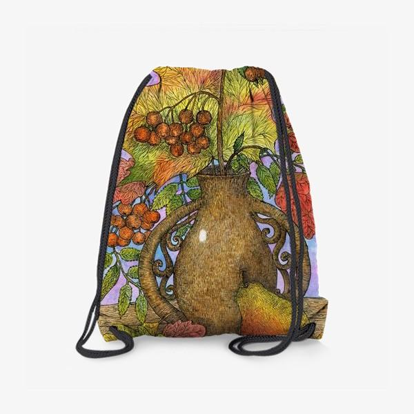 Рюкзак «Осенний букет из листьев и ягод»